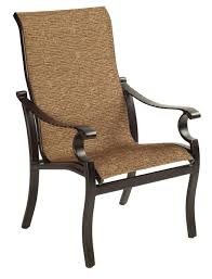 Patio Furniture Slings Fabric by Castelle Monterey Sling Dining Chair All Things Barbecue