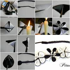 How To Make Dual Color Ribbon Flower Step