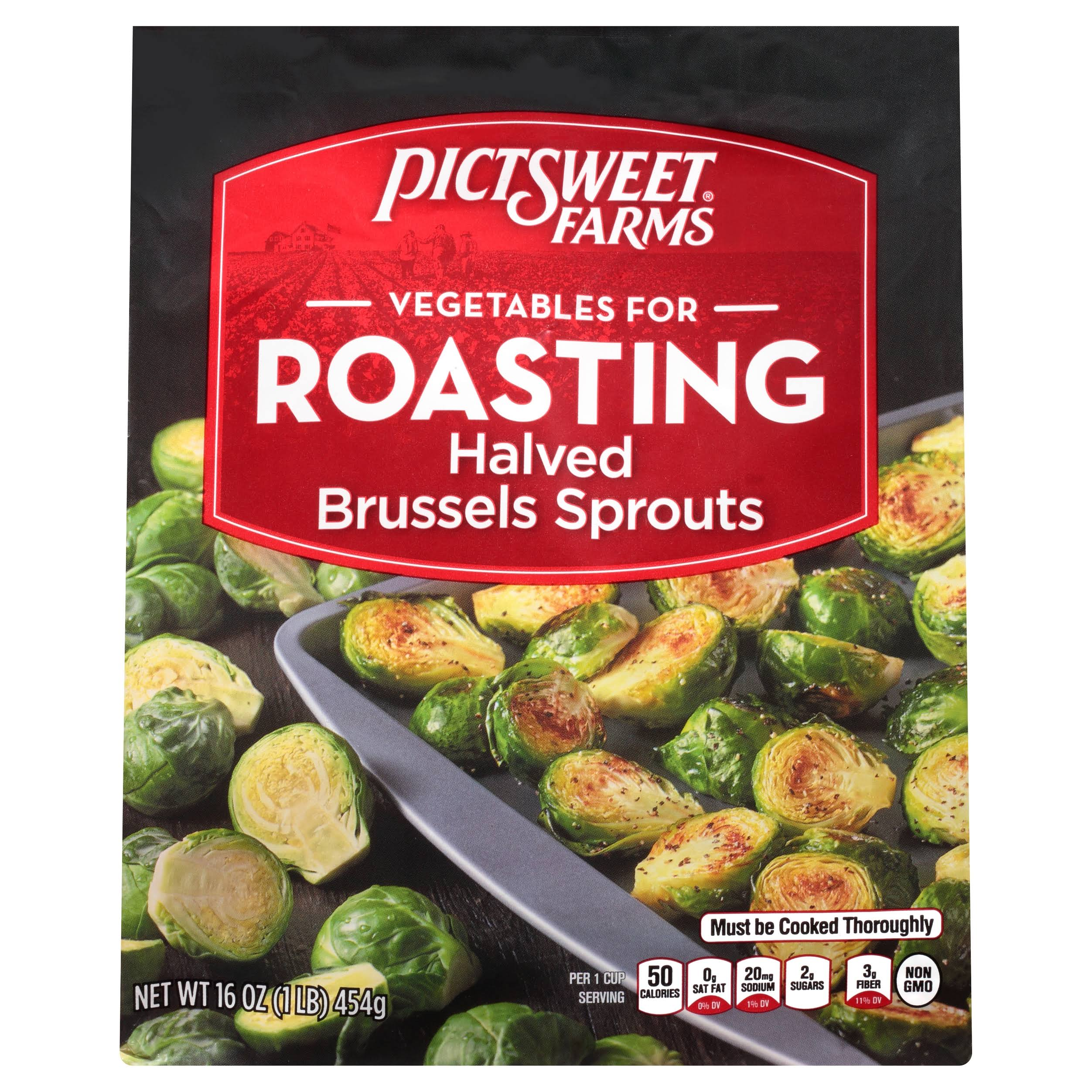 Pictsweet Vegetables for Roasting, Halved Brussels Sprouts - 16 oz