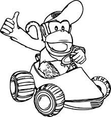 Coloriage Diddy Kong Mario Kart à Imprimer Sur COLORIAGES Info