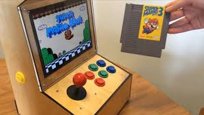 my bartop arcade cabinet powered by a raspberry pi with ipad 2 lcd