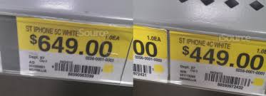 iPhone 5C price tag appears at Walmart alongside iPhone 4C