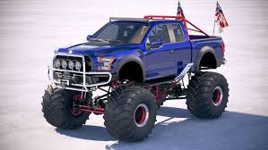100 Ford Monster Truck 3D F150 Raptor Monster Model TurboSquid 1330163
