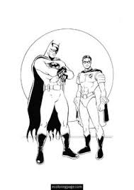 Batman And Robin Coloring Page Printable