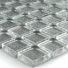 details zu glasmosaik fliesen silber glitzer wand bad küche fliesenspiegel badezimmer