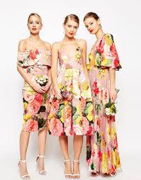 image 3 of asos wedding printed pinny midi prom dress my style