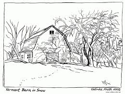 Indian Village Scene Coloring Pages Kerala Scenery Inside Printable