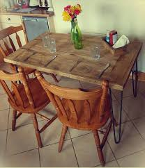 Recycled Wood Pallet Dining Table DIY Salvaged Wooden