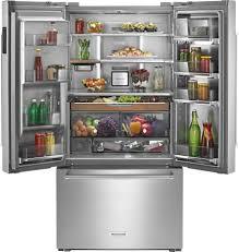 Counter Depth Refrigerator Width 30 by Kitchenaid 23 8 Cu Ft French Door Counter Depth Refrigerator
