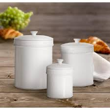 Ceramic Kitchen Canister Sets Dash 3 White Ceramic Canister Set With Lid