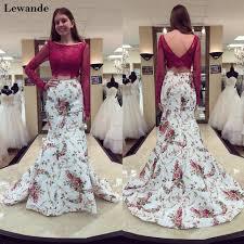 aliexpress lewande lace floral print piece prom