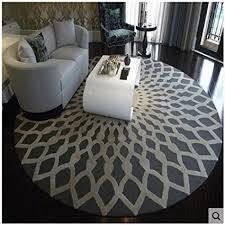 nordic fashion teppich rund groß schwarz und weiß für badezimmer wohnzimmer schlafzimmer arbeitszimmer 1 120 cm
