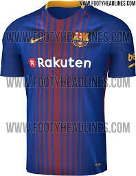 le nouveau maillot domicile 2017 2018 du fc barcelone floqué
