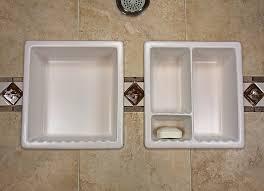bathroom shoo soap shelf dish shower niche recessed tile
