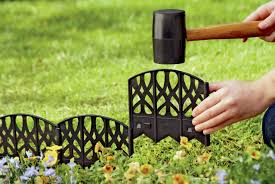 Decorative Garden Fence Border by Landscaping Ideas Over Septic Tank Inspiring Landscape Design And
