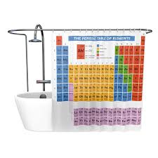 great periodic table shower curtain for science fans best