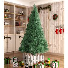 8FT Unlit Christmas Tree Holiday Season Artificial PVC With Stand