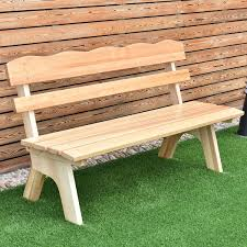 UBRTools 5 Ft 3 Seats Outdoor Wooden Garden Bench Chair Wood Frame Yard Deck Furniture