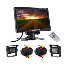 12-24V 2 Car DVR Wired Rear View Backup Camera System And 7 Inch ... Pov Ptz Remote Camera System Adds Flexibility To New Nep Hd Istrong Digital Wireless Backup Camera System For Rvucktrailer Shop Pyle Plcmtrdvr41 Waterproof Dvr Driving With 7 2018 Inch Quad Split Screen Monitor 4x Side Car Rear View Ccd Midland Truck Guardian Reversing 4 Cameras Work Systems And Utility Federal Best Trucks Amazoncom 43 Trucarpickup Wireless Rear View Back Up Night Vision Tesla Semi Supcharger Stop Teases Sleeper Features 26camera Cameras