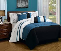 Brown And Blue Bedding by Interior Appealing Dark Blue Bedding Bring Cool Design Idea For