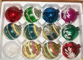 Estate Sale 11 Vintage Paragon Blown Glass Christmas Tree Ornaments Ornament