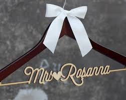 Personalized Rustic Wedding Dress Hanger New Tech Bride Bridesmaid Wood Name HangerCustom Bridal Shower Gift CML002