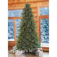 National Tree 7ft PreLit North Valley Spruce Hinged Artificial