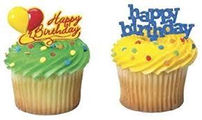 Happy Birthday Cupcake Picks 24 Pack