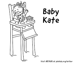 Baby Kates Coloring Page Print This