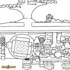 LEGO Hobbit Coloring Pages Free Printable Color Sheets