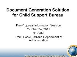 solution bureau ppt document generation solution for child support bureau