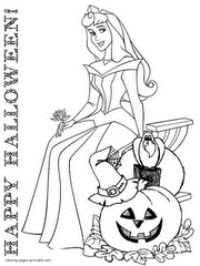 Printable Halloween Coloring Pages Disney Characters