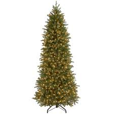 Slim Christmas Tree Prelit by National Tree Company 7 5 Ft Jersey Fraser Fir Artificial