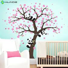 stickers muraux chambre fille ado stickers muraux pour chambre panda cherry blossom sticker pour grand