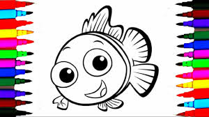Coloring Pages Little Fish L Ocean Creatures Drawing To Color For Kids Learn Rainbow Colors