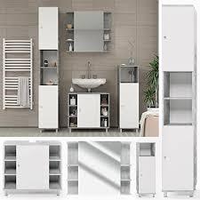 vicco badmöbel set badezimmermöbel fynn spiegel unterschrank midischrank hochschrank set 4 beton