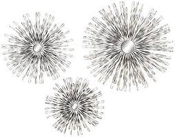 Three Piece Metal Wall Art Awesome Burst Silver Sunburst 3Piece Mirrored Set Whats