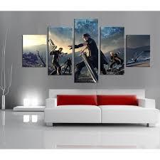 toile chambre toile peinture pour chambre décor moderne photos 5 panneaux jeu