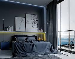 stylische männer schlafzimmer