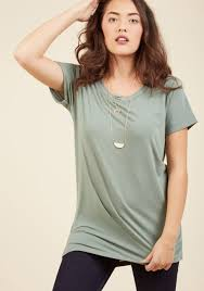 simplicity on a saturday tunic in sage modcloth