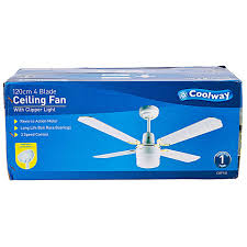 Rattan Ceiling Fans Australia by Coolway Ceiling Fan With Clipper Light Cwf101 Big W