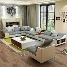 wohnzimmer möbel moderne u förmigen leder stoff ecke sofagarnitur set design sofas für wohnzimmer mit ottomane