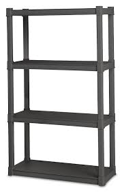 Sterilite 4 Drawer Cabinet 2 Pack by Amazon Com Sterilite 01643v01 4 Shelf Unit Flat Gray Shelves