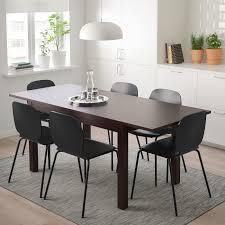 laneberg svenbertil tisch und 4 stühle braun schwarz schwarz 130 190x80 cm