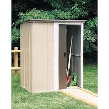Arrow Woodridge Steel Storage Sheds arrow shed yardsaver 4 x 7 ft shed hayneedle