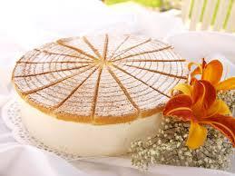quark sahne torte mit pfirsich landgemachtes