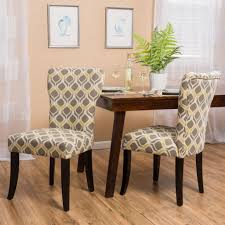 Kalee Yellow And Grey Print Fabric Dining Chair (Set Of 2) | Home ...