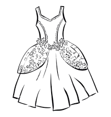 Wedding Dress Outline Clipart
