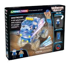 100 Destroyer Monster Truck Amazoncom Laser Pegs LightUp Building Block Playset