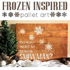 Frozen Inspired Pallet Art